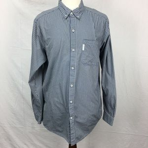 Columbia Gray Check Button Down Shirt